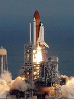 Décollage d'Atlantis le 7 férvier. Crédit : NASA