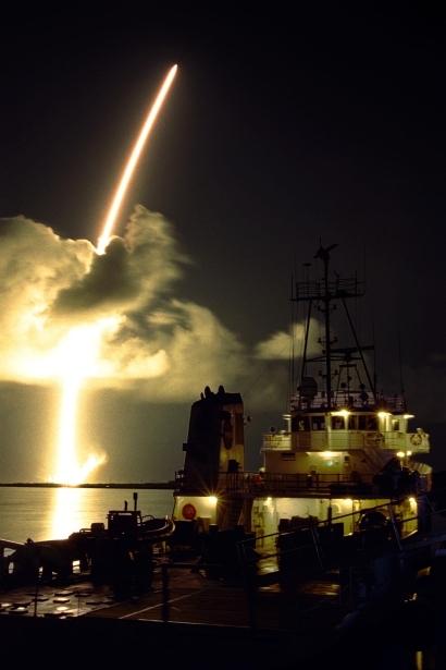 Lancement de CASSINI-HUYGENS le 15 octobre 1997. Crédits : NASA