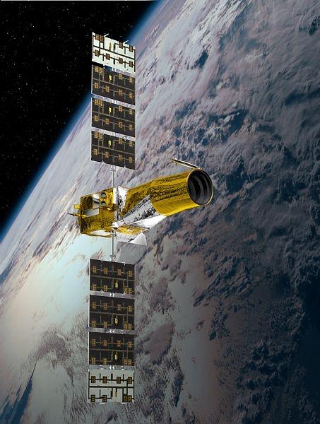Le satellite Corot observe les étoiles depuis 2006. Crédit : Ill. CNES.