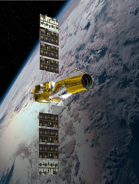 The COROT satellite has been observing stars since 2006. Credit: Ill. CNES.