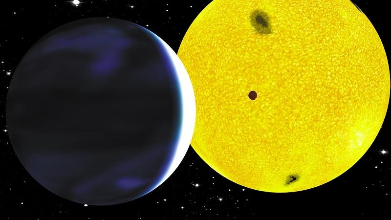 CoRoT-7b, la 1ere exoplanète de type téllurique découverte en 2008 par CoRoT. Crédits : CNES/P. Prodhomme.