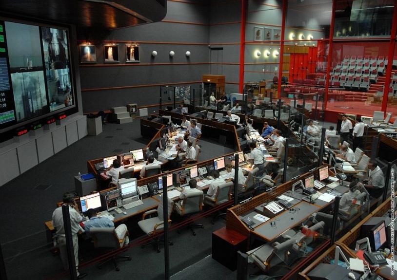 Bâtiment de contrôle Jupiter au centre spatial guyanais. Crédits : CNES/ESA/Arianespace/Optique Vidéo du CSG.